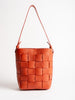 mini woven bucket - orange