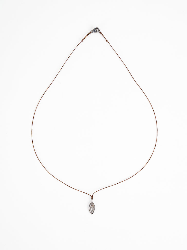 pave diamond marquis necklace