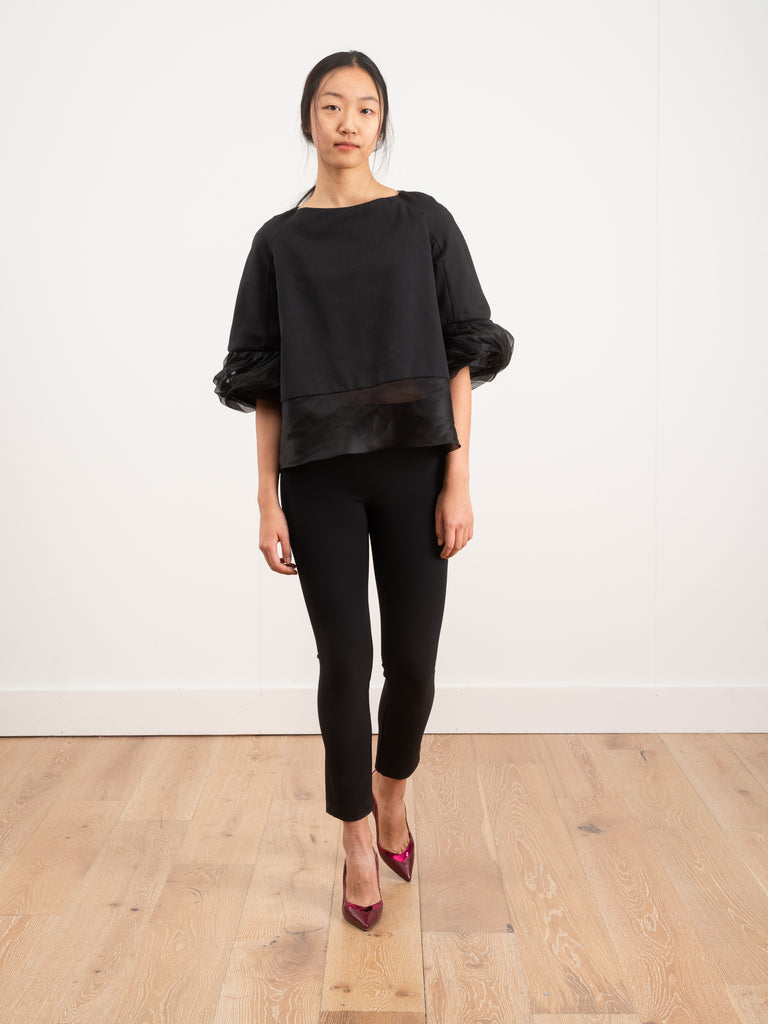 top with ruffle sleeve