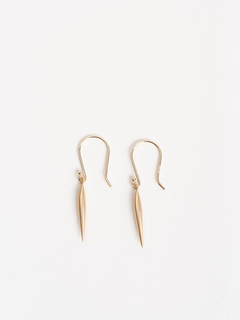 small swell dangle earrings - 14k