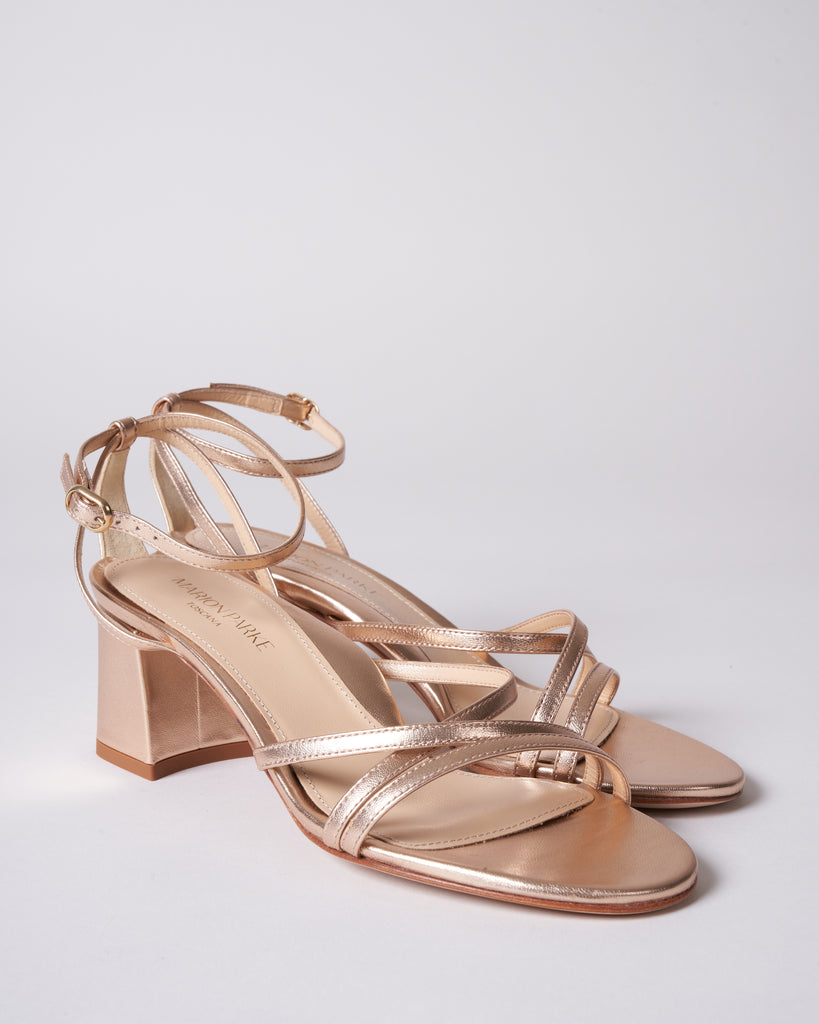 bianca heel - rose gold