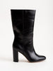 delila block heel boot