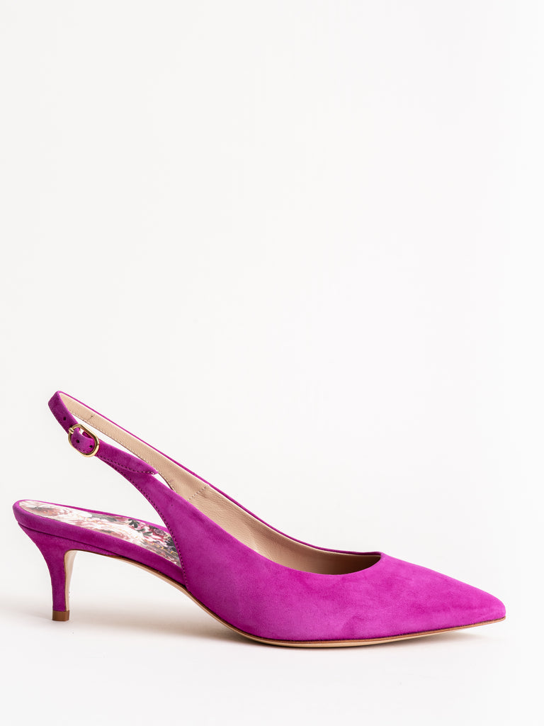 riley suede 45mm heel - orchid