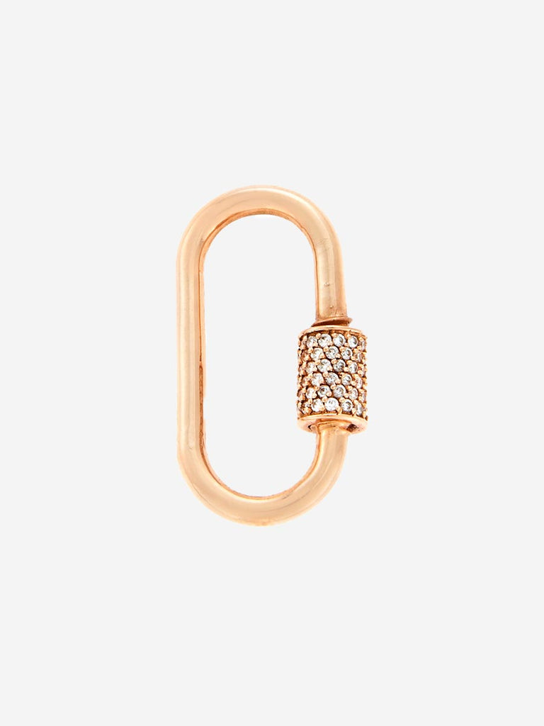 Marla Aaron 14K Rose Gold Medium Lock with Diamonds