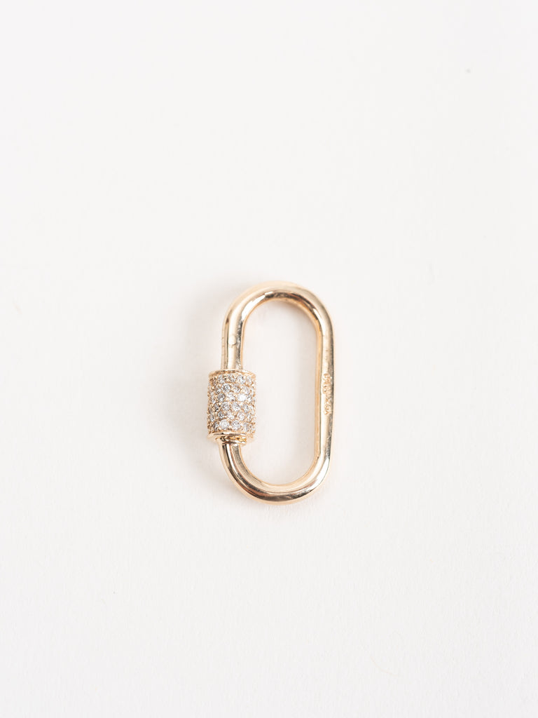 medium yellow gold lock with diamonds
