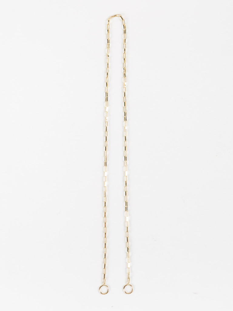 "Marla Aaron 16"" Yellow Gold Large Square Link Chain"