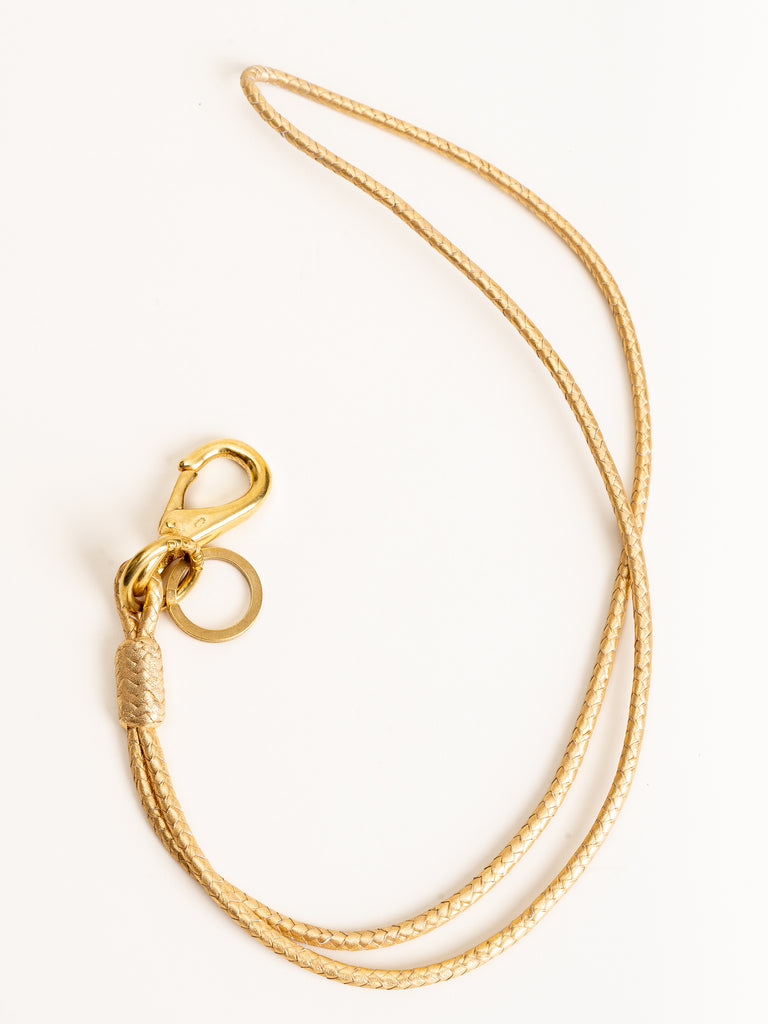 keychain long loop - gold