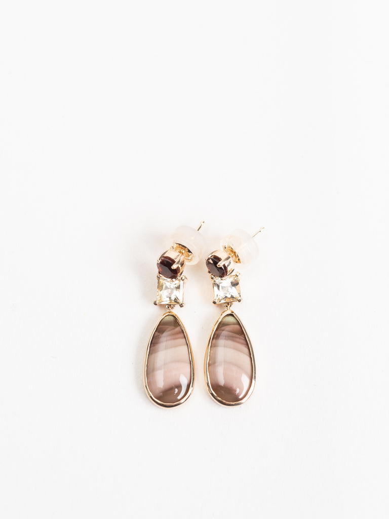Melissa Joy Manning Garnet, Sapphire & Jasper Drop Earrings