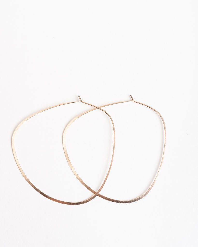 large triangle hoop - 14k gold