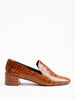 tillie loafer - tan croco