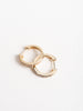 mini yellow gold hoop