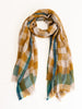 plaid scarf - olive green