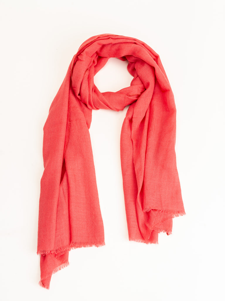 wool/silk scarf - indian pink