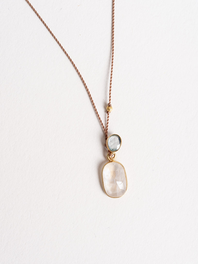moonstone/blue sapphire necklace