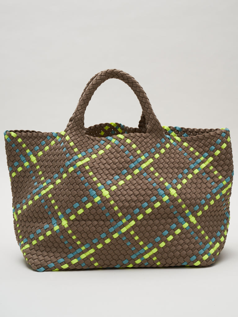 st barths large plaid tote - tangier