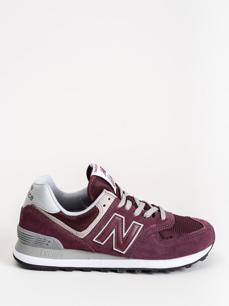 574 core sneaker- burgundy/white