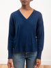 kara v neck sweater - midnight