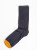 short sock - navy w/ mustard toe