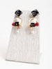 chick earrings - black/white