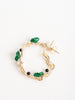 mini hoop earring - malachite