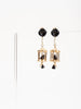 pagoda earrings - black