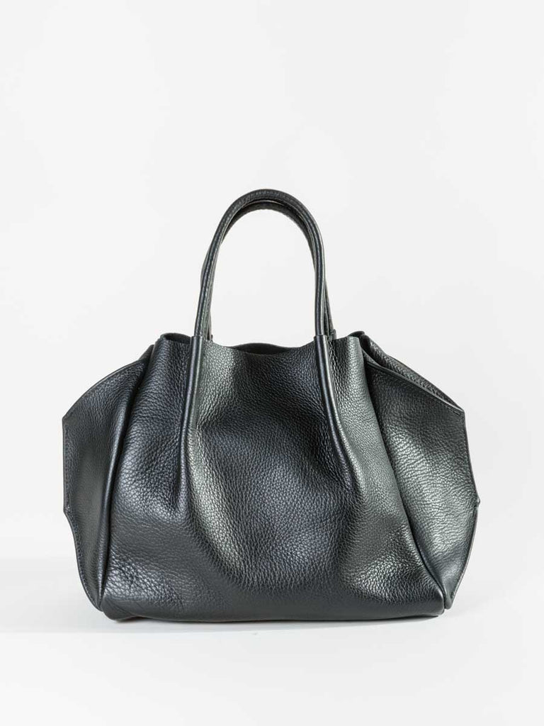 zoe pebble leather black