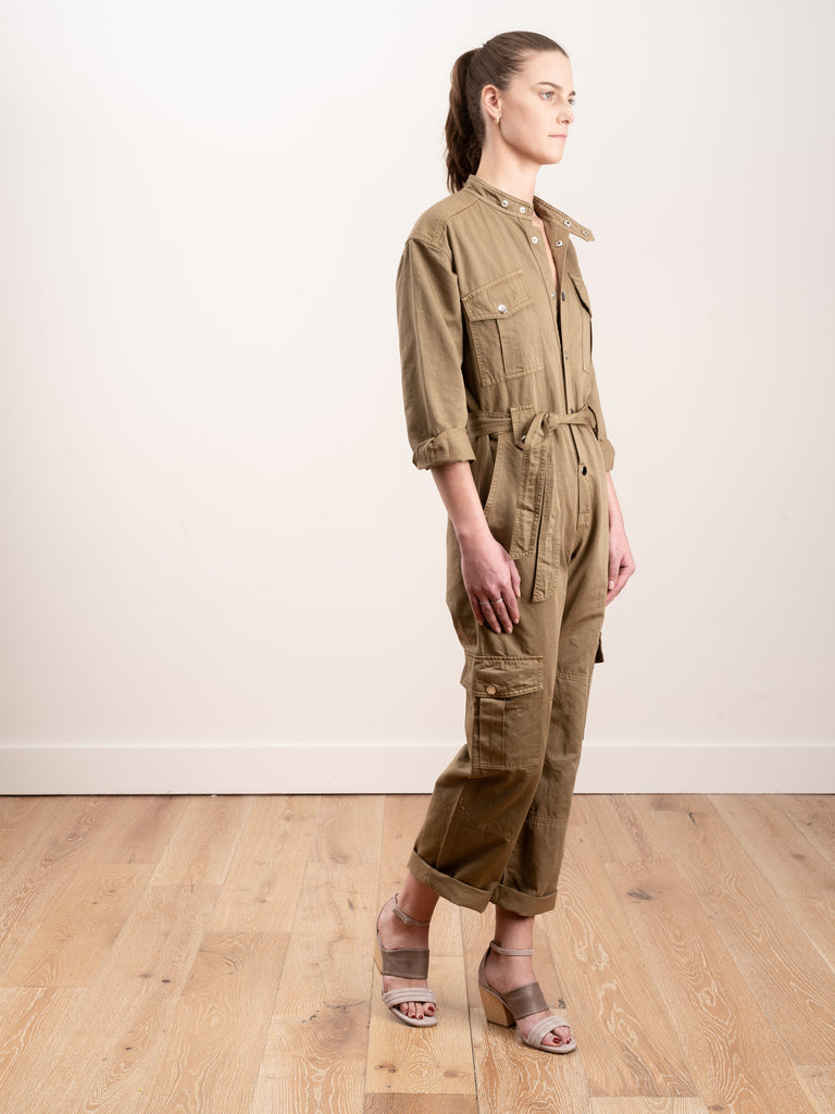 jumpsuit w/cargo pockets - olive