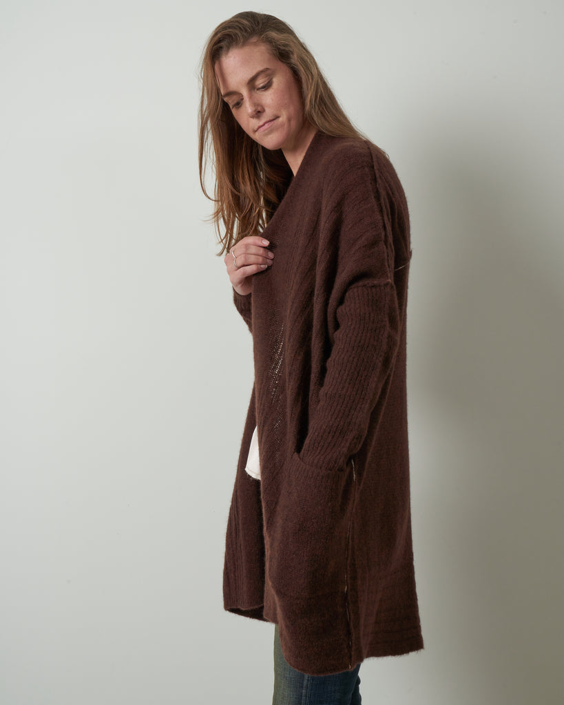 dreamy long cardigan - americano