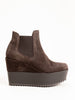 franny-ve wedge - peppercorn suede