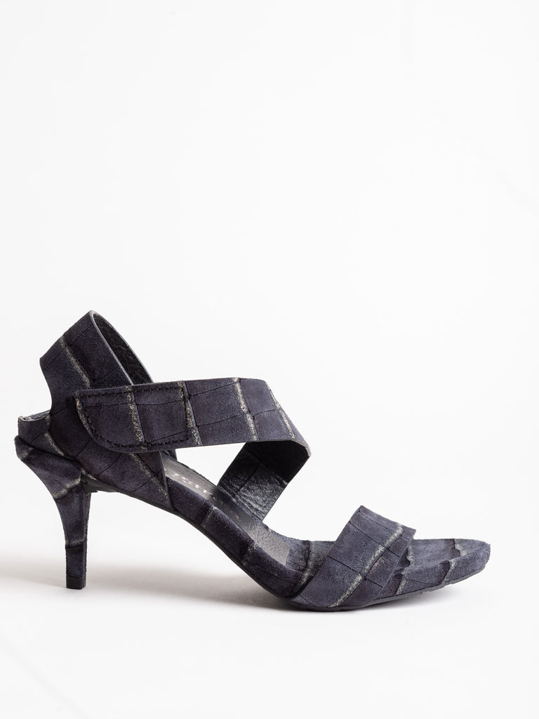 west heel - black castoro croc