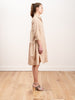 cotton tiered dress - taupe