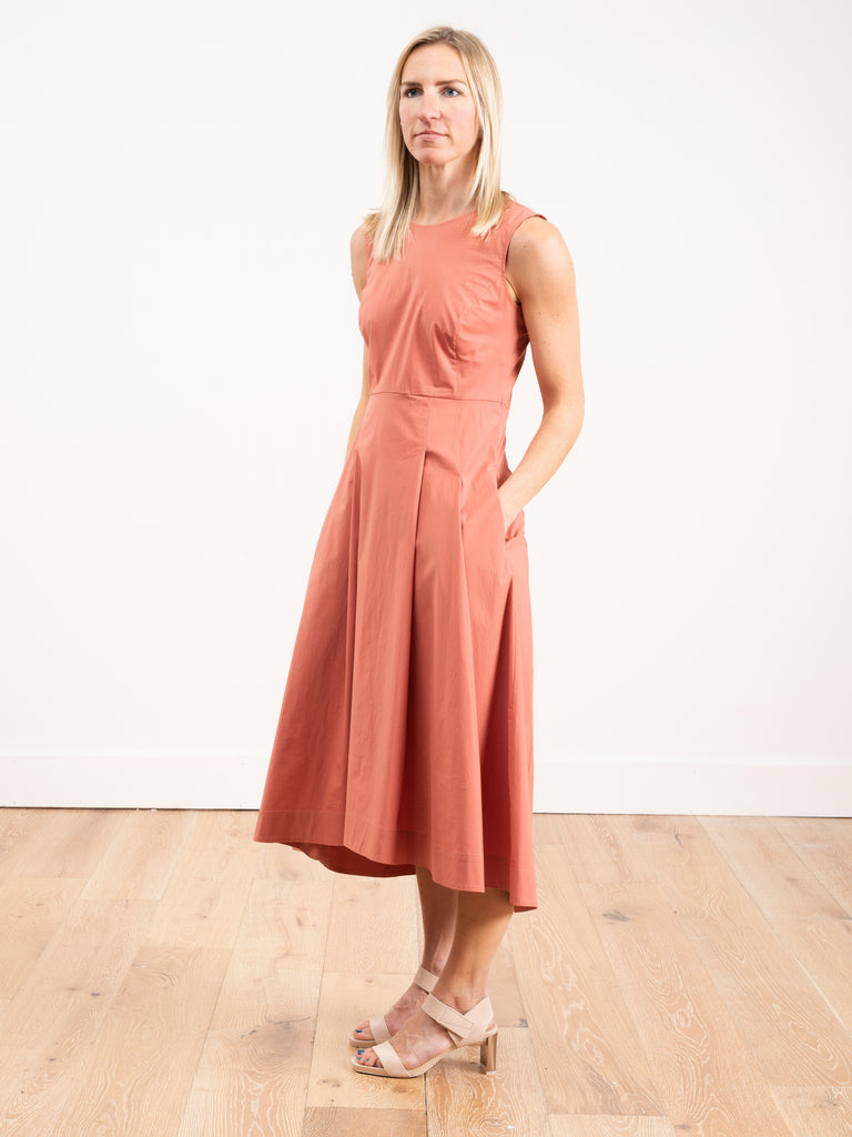 sleeveless full skirt dress - sienna