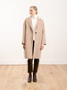 standup collar oversized coat - camel