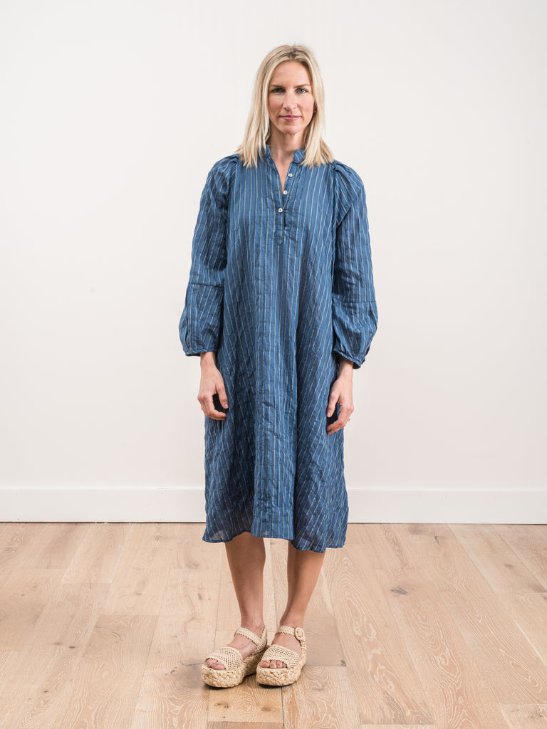 atlin dress - indigo multi