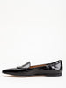 flat loafer - black patent