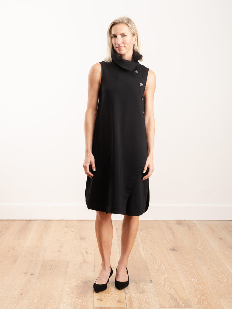 button neck dress