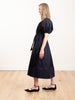 puff sleeve dress - navy