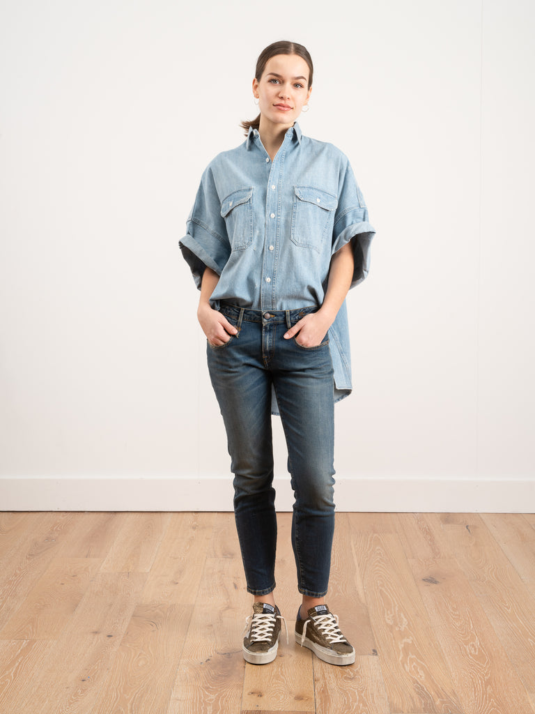 R13 Oversized Short Sleeve Timmy Denim