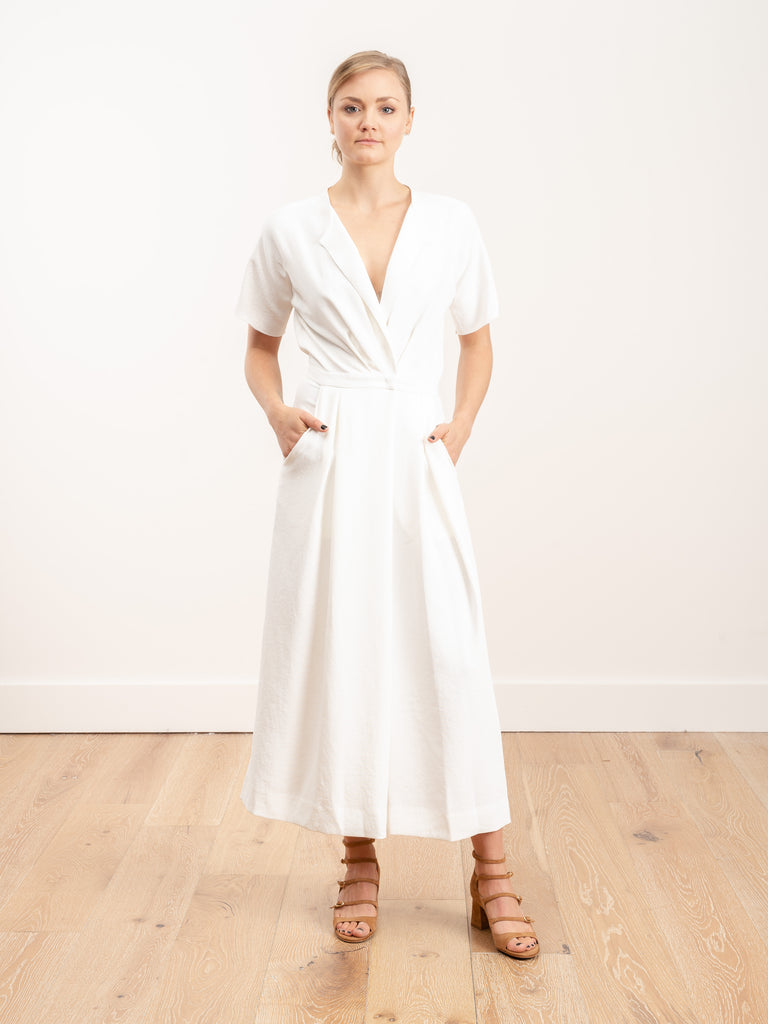 ardent jumpsuit - white