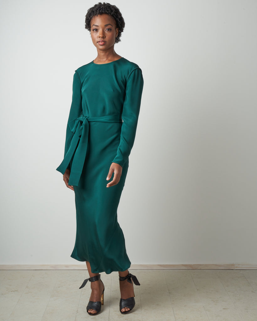 saranac dress - forest green