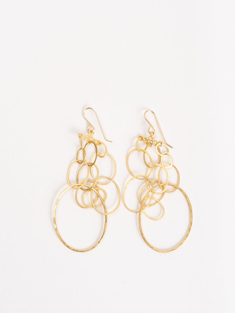 gold sculpture earrings