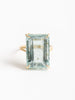 aquamarine emerald cut ring