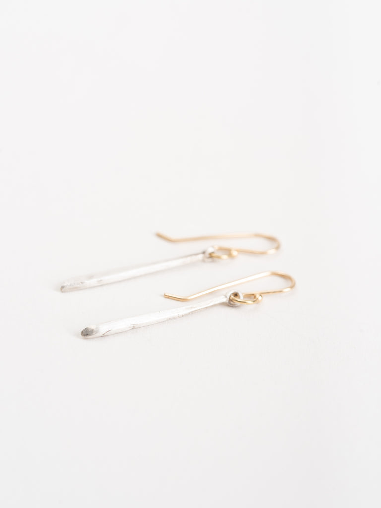 sterling silver classic twig earrings