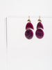ruby mini arp earrings