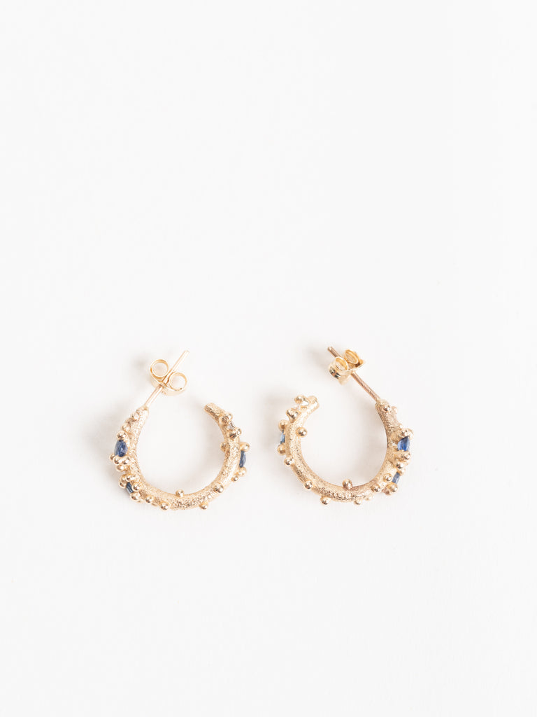 sapphire and diamond encrusted hoops