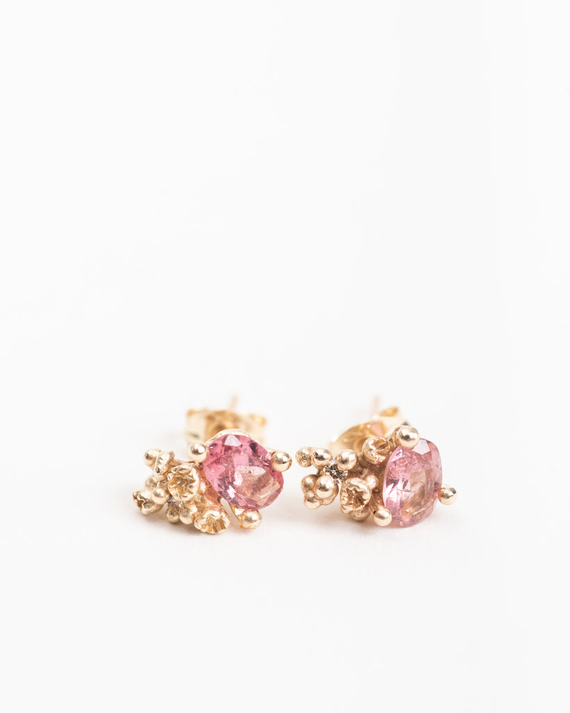 tourmaline & diamonds studs w/ barnacles