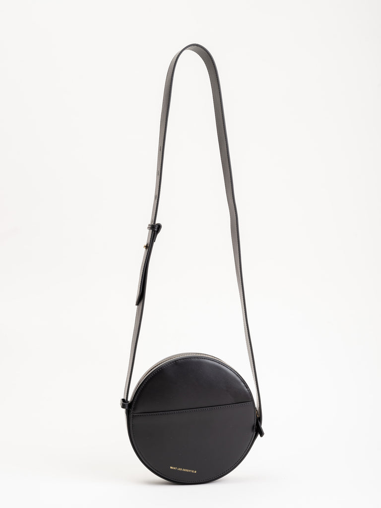 nikos crossbody bag - jet black