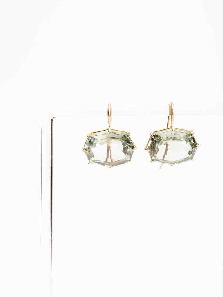 green amethyst earring