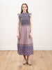 bianca smocked midi dress - violet
