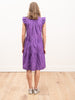 tabitha tiered dress - grape